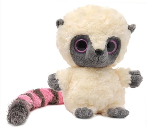 Мягкая игрушка Aurora Лемур Юху розовый, 20 см