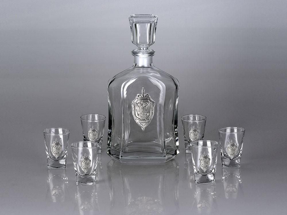 Подарочная водка с символикой россии