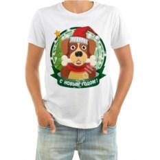 Мужская футболка Собака с косточкой
