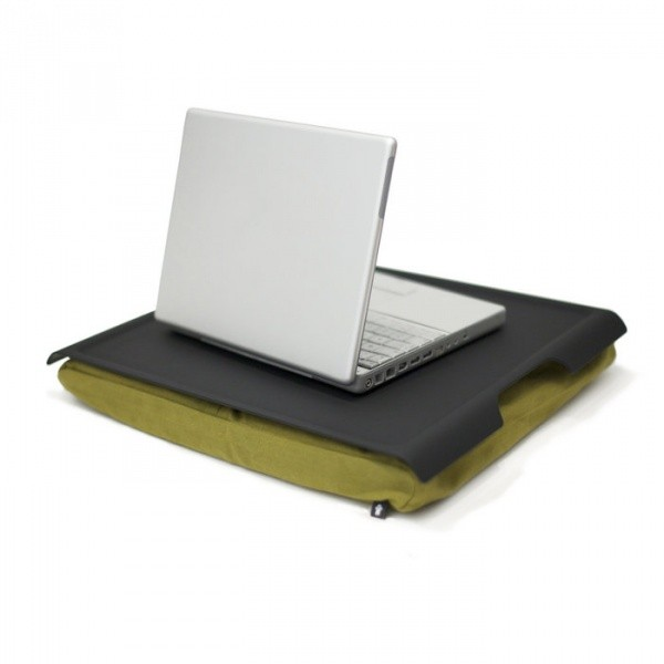 Подставка с пластиковым подносом Laptray, черная/оливка