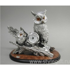 Часы Филин с птенцами