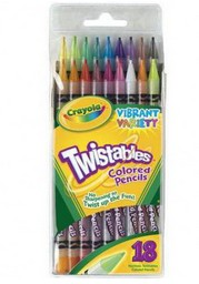 Набор из 18 выкручивающихся цветных карандашей