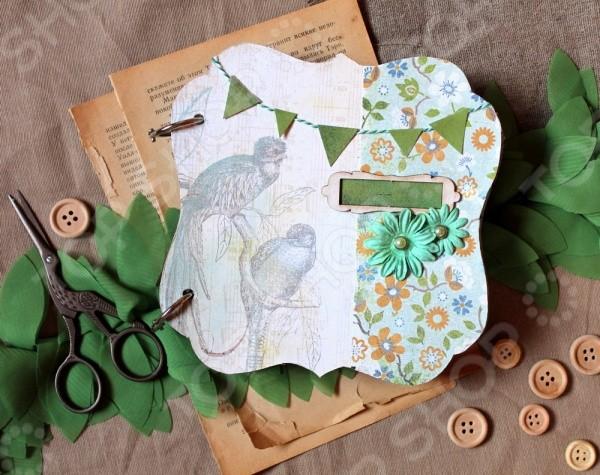 Набор для создания скрапбукинг альбома  Зеленый букет