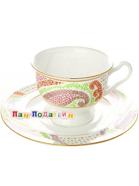 Чайная чашка с блюдцем Мариенталь фиолетовый