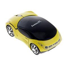 Беспроводная отпическая мышка Машина, желтая