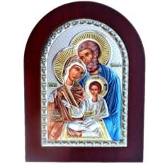 Икона в серебряном окладе Святое Семейство