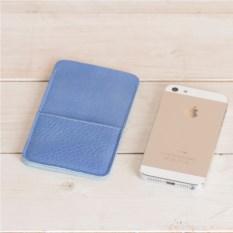 Кожаный голубой чехол Walster для iPhone 5/5s
