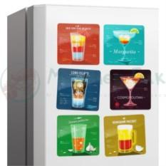 Набор магнитов на холодильник Коктейли