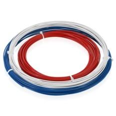 Белый, синий и красный пластик для 3D ручек ABS-3