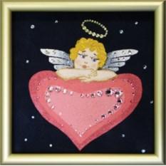 Картина с кристаллами Swarovski Ангел Любви