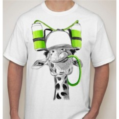 Мужская футболка Жираф, банки