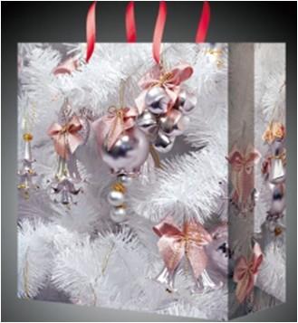 Новогодний пакет Белая ель