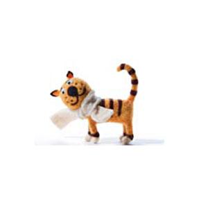 Елочная игрушка «Тигренок в шарфе»