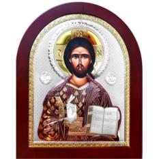 Серебряная икона. Иисус Христос Спаситель.