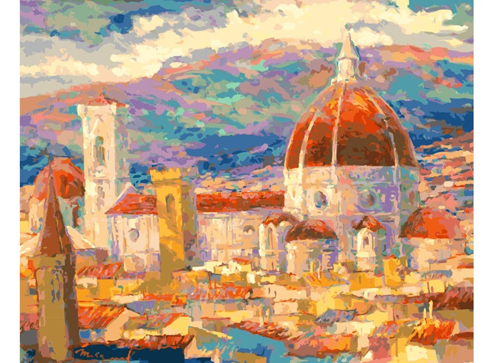 Картины по номерам «Дождь над Флоренцией»