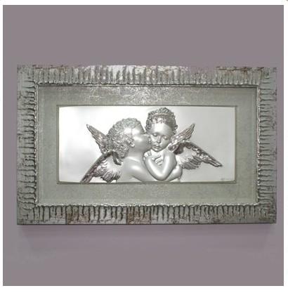 Декоративное панно с серебрением Небесные Ангелочки