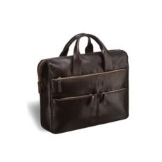 Вместительная коричневая деловая сумка Brialdi Manchester
