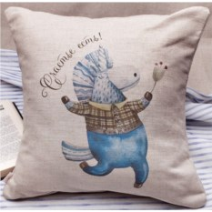 Декоративная подушка Единорог-джентльмен. Счастье есть