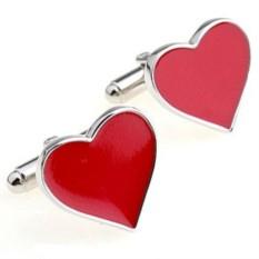Запонки Красное сердце