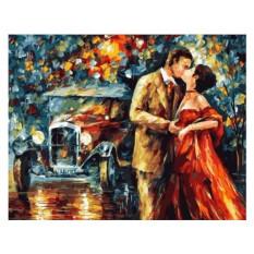 Картины по номерам «Вечер. Поцелуй»