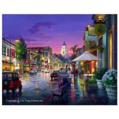 Картина-раскраска по номерам на холсте После дождя