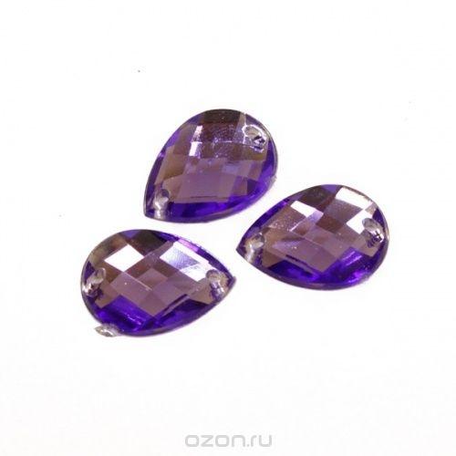 Стразы пришивные Астра, цвет: фиолетовый, 6 шт