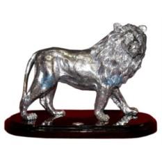 Статуэтка с посеребрением «Лев - царь зверей»