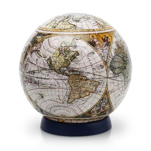 Шаровый пазл Старинная карта мира 540 деталей, 23 см