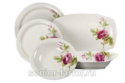 Столовый сервиз Розовый Сад на 6 персон (20 предметов)