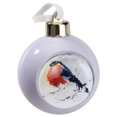 Белый елочный шар-шкатулка