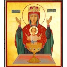 Неупиваемая чаша. Икона Божьей Матери на доске