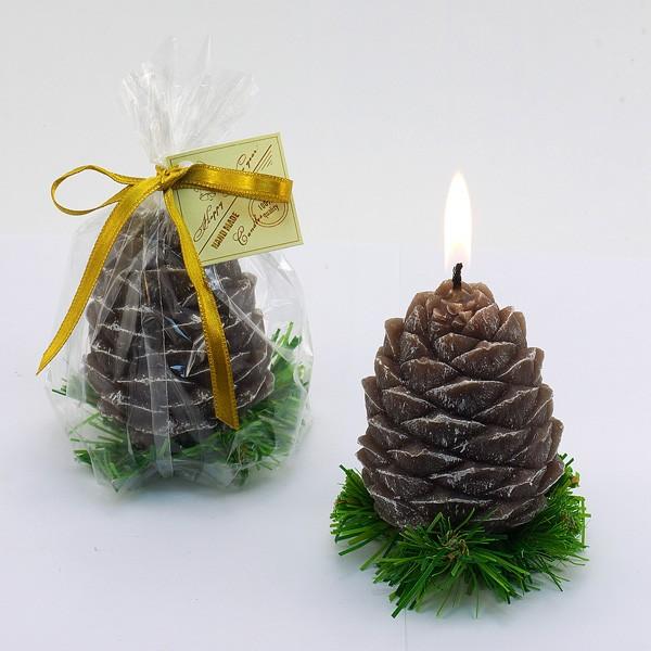 Декоративная свеча Шишка на елке