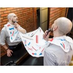 Фартук для бритья и стрижки Barber shop elements