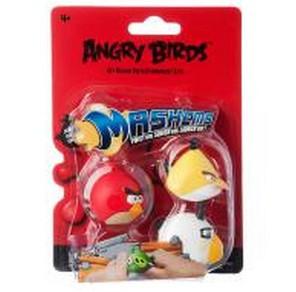 Набор из трех игрушек-мялок Angry birds