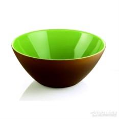 Коричнево-зеленая салатница My fusion