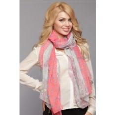 Розово-серый женский палантин Laura Milano
