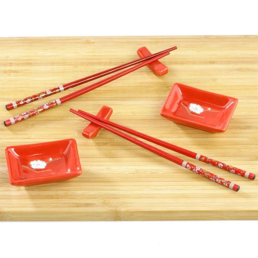 Набор для суши Цветок сакуры на красном