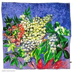 Платок Цветущие ветви каштана (Ван Гог)