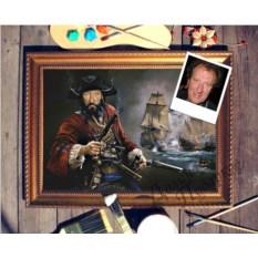 Портрет по фото Морской пират