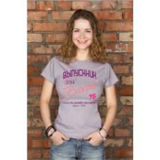 Серая женская именная футболка Выпускник