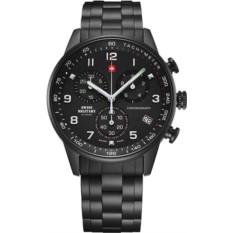 Черные мужские наручные часы Swiss Military by Chrono