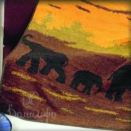 Плед «Слон» Зеленый 150х200