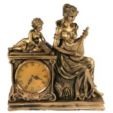 Часы настольные Девушка с лютней