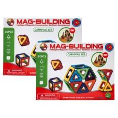 Набор 20 и 20 деталей конструктора Mag-Building