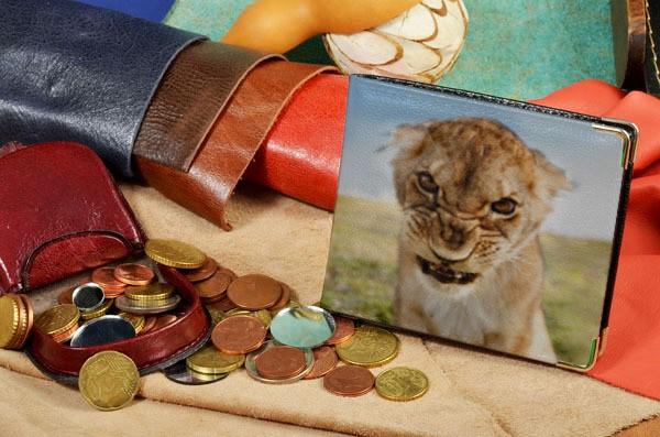 Портмоне с принтом Сердитый львенок