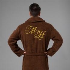 Мужской халат с вышивкой Инициалы