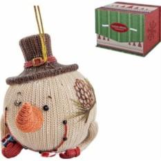 Новогодняя статуэтка Снеговик в шляпе