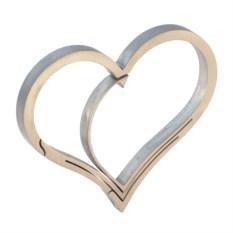Титановый брелок Heart