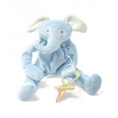 Держатель для соски Bunnies By The Bay Голубой слоник