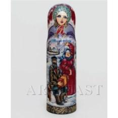 Футляр для бутылки Снегурочка